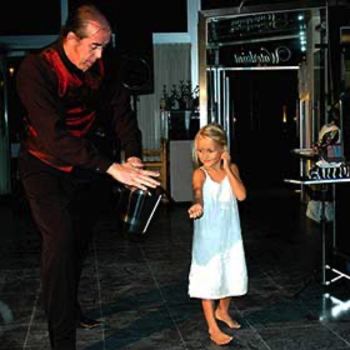 magician with child for communion